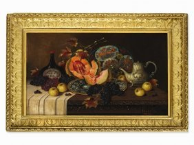 Josef Lauer (1818-1881), Still Life With Ripe Fruits,