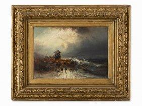 Franz Emil Krause (c. 1836-1900), Sea Rescue, Oil,