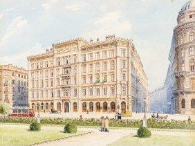 Raimund Von Stillfried (1839-1911), Street In Vienna,