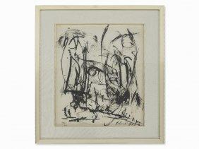 Alexander Schawinsky, Ink, Abstract Composition, Usa,