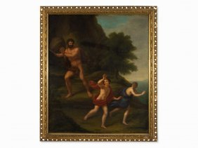 Polyphemus With The Giant Rock, Oil Painting, Late 18th