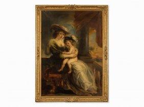 Copy After Peter Paul Rubens, Hélène Forment With Son