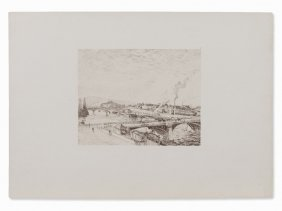 After Camille Pissarro, Ponts à Rouen, Lithograph,