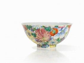 Porcelain Bowl With Mille-fleur Decoration, China, 20th