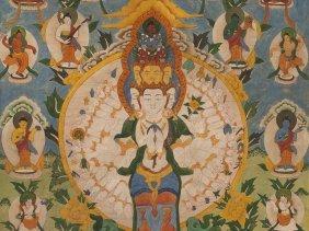 Thangka With 11-headed Avalokiteshvara, Tibet, 19/20th