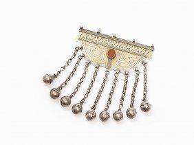 Turkmen Silver Boys Amulet 'ok Yay' With Pendants, 19th