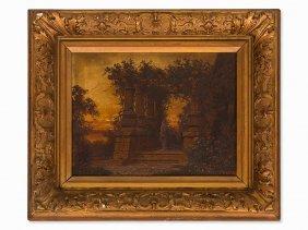 Ferdinand Knab (1834-1902), Temple Ruin At Sunset, 1900