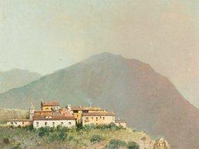 Salvatore Petruolo (1857-1946) Italian Mountain