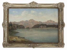 Otto Klübert, Oil Painting, Mountain Landscape With