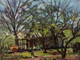 Kurt Haase-jastrow, Oil On Canvas, Garden Landscape, C.
