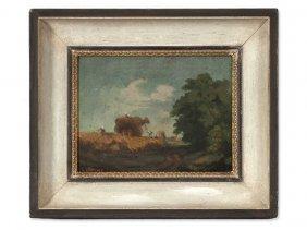 Oil Painting, Hay Harvest, German-speaking Country,