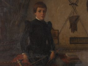 Heinrich Ewers (1817-1885), Painting, Portrait Of A