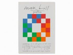 Max Bill, Serigraph, Exhibition Poster Migros, 1977