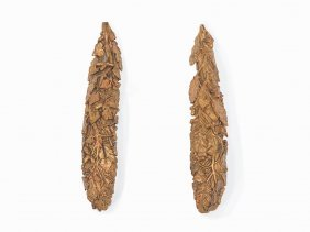 Pair Of Gold-plated Wall Decoration, Presumably France,