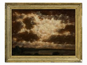 Robert Büchtger (1862-1951), Cloud Formations, Oil,