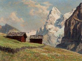 Erwin Kettemann (1897-1971), Early Summer In Mürren,