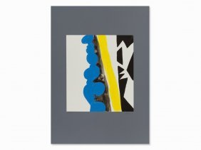 Ernst Wilhelm Nay, After: Blue, Yellow, Black, Grey,