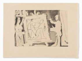 Pablo Picasso, Dans L'atelier, Aquatint And Drypoint,