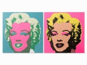 After Andy Warhol, Marilyn Monroe, 2 Serigraphs, 2012