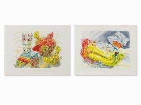 Janet Fish, Candy & Bag Of Bananas, 2 Color