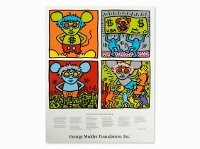 Keith Haring, Keith And Andy And Andy Mouse, 1986