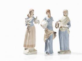 Lladró Style Porcelain Figures, Spain, Late 20th