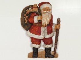 Decorative Father Christmas, Papier-mâché, Germany,