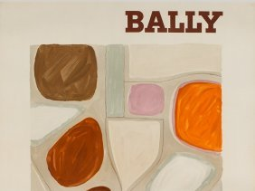 Abstract Advertising Poster For Bally By Villemot,
