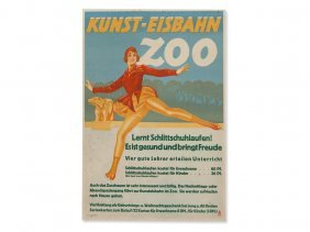 Helmers, Original Poster 'artificial Ice Rink', 30s