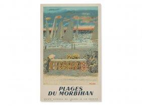 M. Brianchon, Vintage Poster 'plages Du Morbihan',