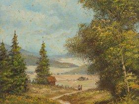 """Oil Painting """"wanderlust"""", Frühmesser, Late 20th"""