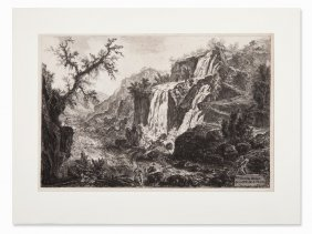 Giovanni Battista Piranesi, Waterfalls Near Tivoli,
