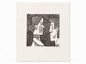 Gerhard Marcks, Bayerisches Paar, Woodcut, 1952/53