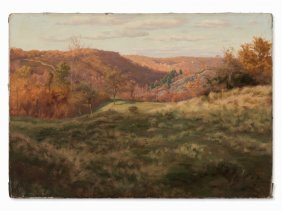 Walter Prell (1857-1936), Autumn Landscape, Painting,