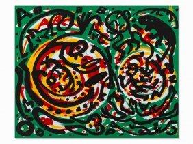 A.r. Penck, Debatten, Serigraph In Colors, 1990