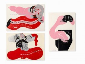Axel Knopp, 3 Abstract Compositions, Color Serigraphs,