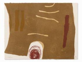 William Scott, Scalpay, Color Lithograph, 1963