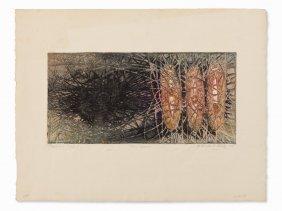 Krishna Reddy, Three Graces, Aquatint In Colors, 1958