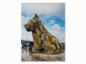 Puppy, Digital Print In Colors Signed By Jeff Koons,