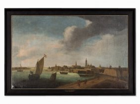 Reinier Zeeman, Circle Of, View Of Antwerp, 17th C.