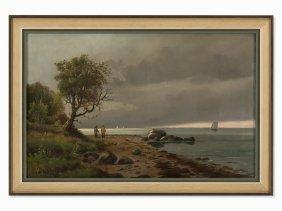 Vladimir G. Favr, Attr., Coastal Landscape, Oil