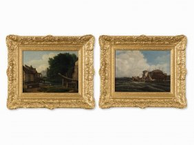 Francis Place, Follower, Pair Of Landscapes, Early 19th