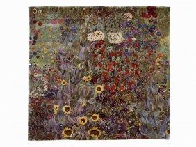 After Gustav Klimt, Bauerngarten, Tapestry, C. 1990