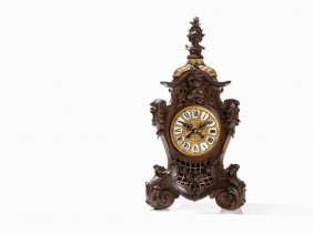 Gustav Becker, Rococo Revival Table Clock, Silesia, C.