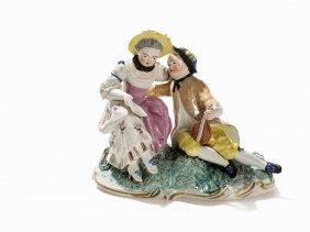 Frankenthal, Music Playing Couple, Porcelain, 1778