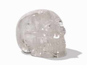 A Skull Shaped Carved Rock Crystal , C. 14.8 Kg, Brazil