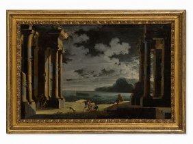 Leonardo Coccorante (1680-1750), Cappriccio, Oil, 18th