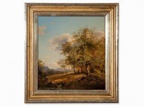 Josef Höger (1801-1871), A Walk Through The Woods, Oil,
