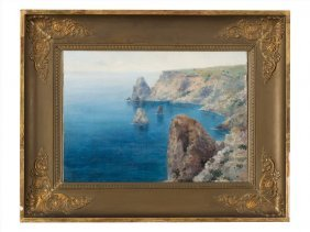 Vladimir Baltz (1864-1939), Cape Fiolent, Crimea, Early