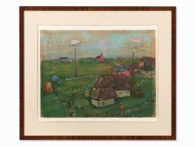 Friedrich Karl Gotsch, Pastel, Landscape, 1920s